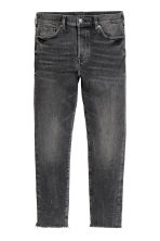Relaxed Skinny Cropped Jeans - Black washed out - Men | H&M 2