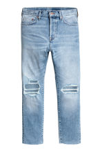 Relaxed Skinny Cropped Jeans - Light denim blue - Men | H&M IE 2