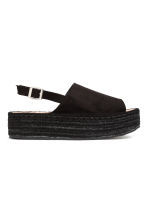 Platform sandals - Black - Ladies | H&M 1