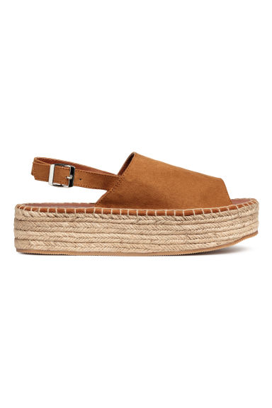 Platform sandals - Camel - Ladies | H&M CN 1