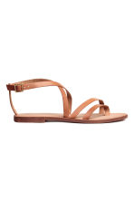 Leather sandals - Light brown - Ladies | H&M GB 2