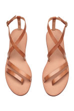 Leather sandals - Light brown - Ladies | H&M GB 3
