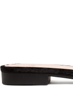 Velvet slides - Black - Ladies | H&M CN 4