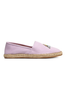 Espadrilles with an appliqué
