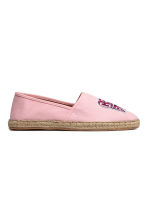 Espadrilles with an appliqué - Light pink - Ladies | H&M CN 1