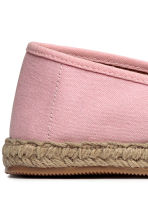 Espadrilles with an appliqué - Light pink - Ladies | H&M CN 3