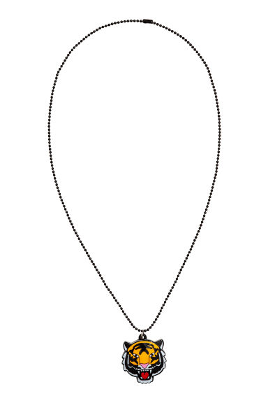 Necklace with a pendant - Black/Tiger - Kids | H&M