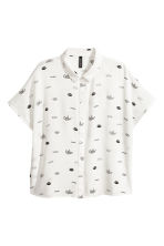 Crêpe blouse - White/Patterned - Ladies | H&M 2