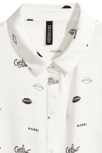 Crêpe blouse - White/Patterned - Ladies | H&M 3