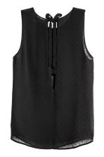Sleeveless blouse - Black - Ladies | H&M CN 3