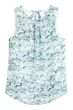 Sleeveless blouse - White/Patterned - Ladies | H&M 2