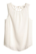 Sleeveless blouse - Natural white -  | H&M CA 2