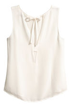 Sleeveless blouse - Natural white -  | H&M CA 3
