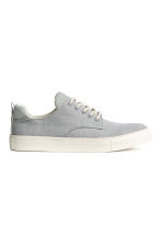 Herringbone-patterned trainers - Light grey/White - Kids | H&M 1