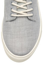 Herringbone-patterned trainers - Light grey/White - Kids | H&M CN 4