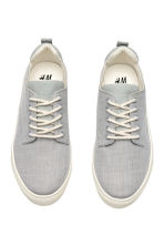Herringbone-patterned trainers - Light grey/White - Kids | H&M CN 2