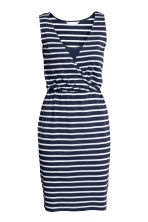 MAMA V-neck nursing dress - Dark blue/Striped - Ladies | H&M 2