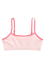2-pack jersey crop tops - Light pink -  | H&M CN 2