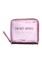Small purse - Pink/Metallic - Ladies | H&M 1