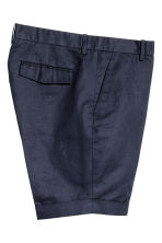 Linen-blend chino shorts - Dark blue - Men | H&M 3