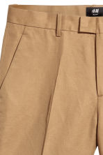 Linen-blend chino shorts - Dark beige - Men | H&M CN 3