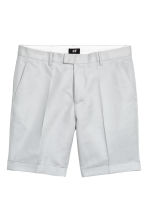 Linen-blend chino shorts - Light grey - Men | H&M 2