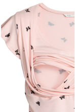 MAMA Nursing top - Powder pink/Butterfly -  | H&M CN 3