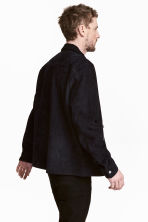 Suede shirt jacket - Dark blue -  | H&M CA 4