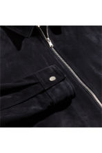 Suede shirt jacket - Dark blue -  | H&M CA 3