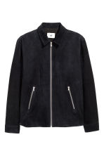 Suede shirt jacket - Dark blue -  | H&M CA 2