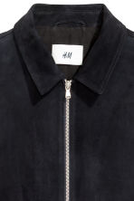 Suede shirt jacket - Dark blue -  | H&M CA 5