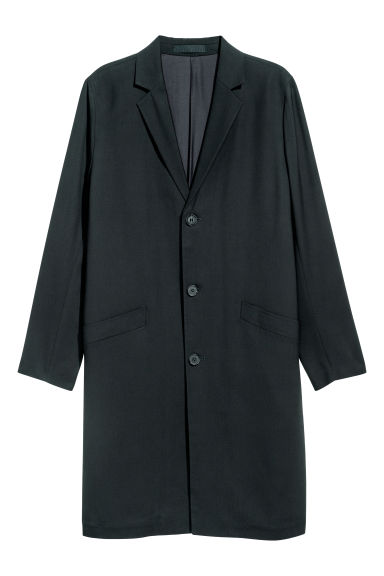 Cappotto in twill - Nero - UOMO | H&M IT 1