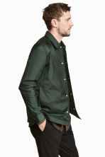 Padded nylon shirt jacket - Dark green - Men | H&M CN 4