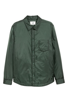 Padded nylon shirt jacket