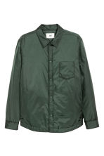 Padded nylon shirt jacket - Dark green - Men | H&M CN 2