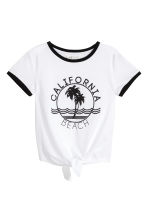 Tie-front top - White/California - Kids | H&M 2