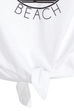 Tie-front top - White/California - Kids | H&M CN 3