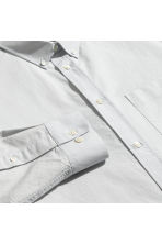 Pima cotton Oxford shirt - Light grey - Men | H&M CA 3