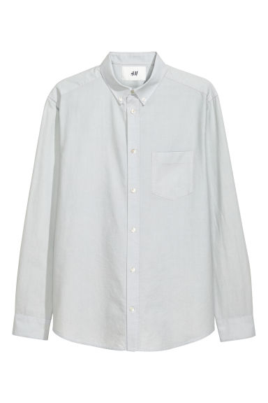 Pima cotton Oxford shirt - Light grey - Men | H&M
