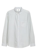 Pima cotton Oxford shirt - Light grey - Men | H&M CA 2