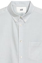 Pima cotton Oxford shirt - Light grey - Men | H&M CA 5