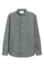Pima cotton Oxford shirt - Grey - Men | H&M 2