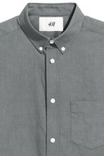 Pima cotton Oxford shirt - Grey - Men | H&M 5