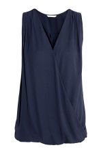 MAMA Nursing blouse - Dark blue - Ladies | H&M 1