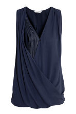 MAMA Nursing blouse - Dark blue - Ladies | H&M 2