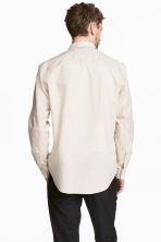 Pima cotton poplin shirt - Light beige - Men | H&M CN 4