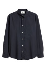 Pima cotton poplin shirt - Black - Men | H&M CN 2