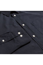 Pima cotton poplin shirt - Black - Men | H&M CN 3