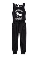 Jersey jumpsuit - Black/Unicorn -  | H&M 2