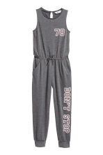 Jersey jumpsuit - Dark grey marl -  | H&M 2